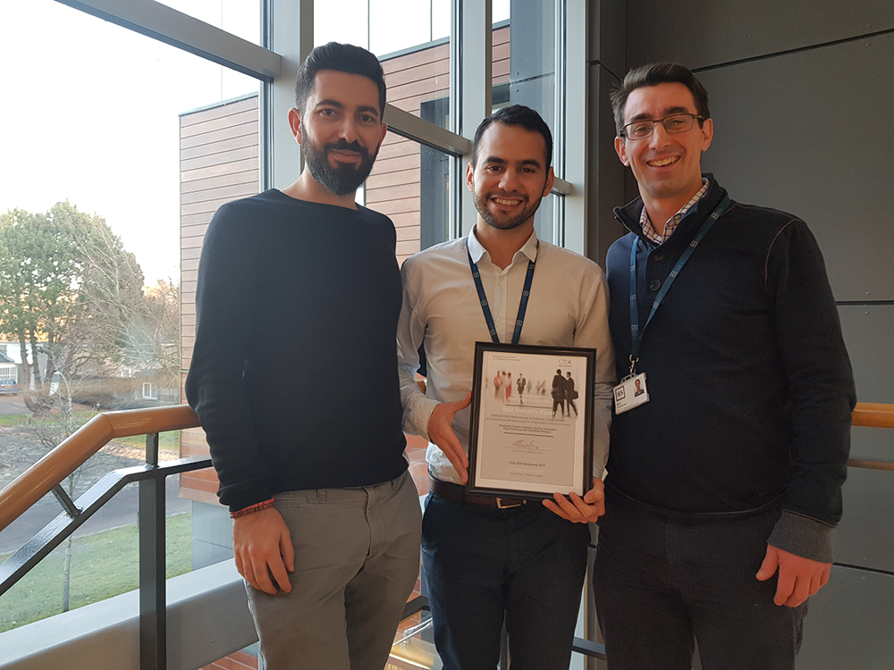Best Industry Paper Award at the CiTA BIM Gathering 2017 - DiscoverIES